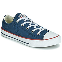 Shoes Girl Low top trainers Converse CHUCK TAYLOR ALL STAR BROADERIE ANGLIAS OX Marine