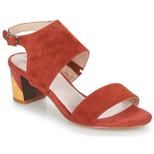 Shoes Women Sandals Metamorf'Ose EMBARQUA Red
