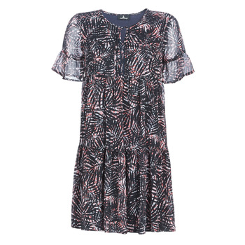 Clothing Women Short Dresses One Step  Black / Coral
