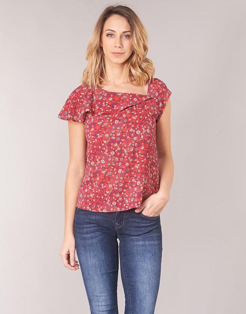Clothing Women Tops / Blouses Ikks BN11345-35 Coral / Multicolour