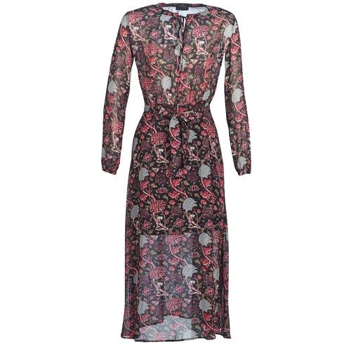 Clothing Women Long Dresses Ikks BN30065-02 Black / Red / Grey