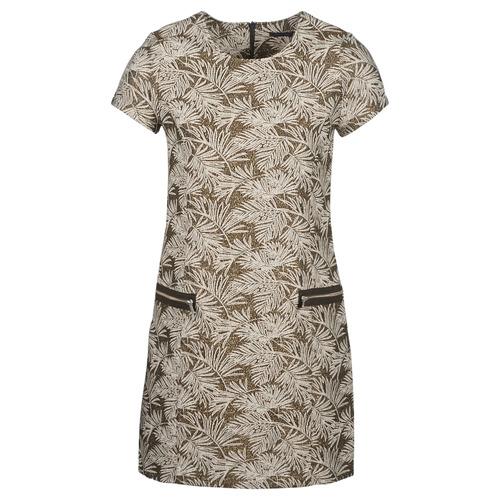 Clothing Women Long Dresses Ikks BN30165-65 Kaki / Beige