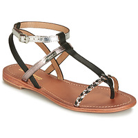 Shoes Women Sandals Les Tropéziennes par M Belarbi HILATRES Black / Silver