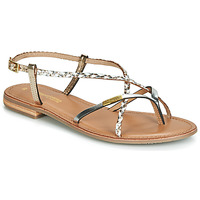 Shoes Women Sandals Les Tropéziennes par M Belarbi MONATRES White / Gold