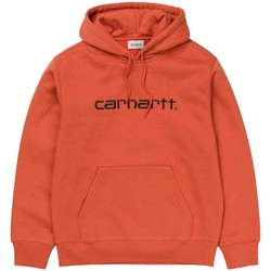 Clothing Men sweaters Carhartt WIP  Hooded Sweatshirt Orange