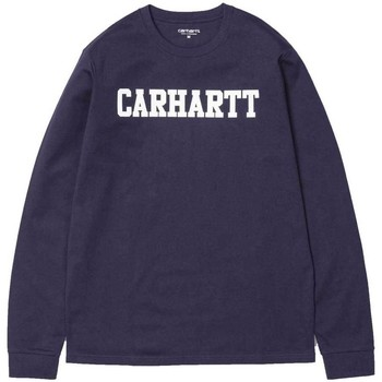 Clothing Men Long sleeved tee-shirts Carhartt Long Sleeve College T-Shirt- Lakers Purple Purple