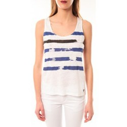 Clothing Women Tops / Sleeveless T-shirts Little Marcel Débardeur Dicola Navy E15FTAN0302 Marin Blue