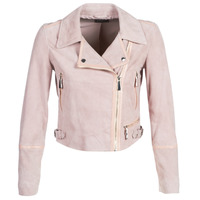 Clothing Women Leather jackets / Imitation leather Guess JUNKO Pink