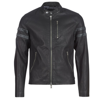 Clothing Men Leather jackets / Imitation leather Guess COOL BIKER Black