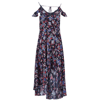 Clothing Women Long Dresses Guess BORA Black / Multicoloured