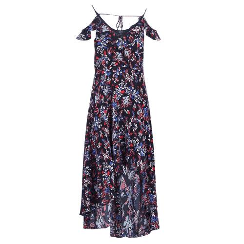 Clothing Women Long Dresses Guess BORA Black / Multicoloured