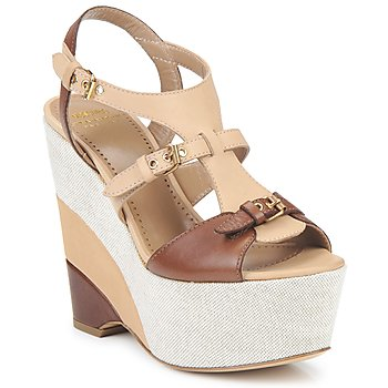Shoes Women Sandals Moschino Cheap & CHIC STERLIZIA Beige-brown