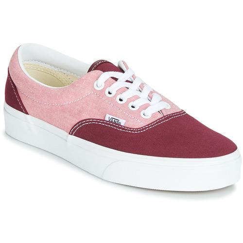 Shoes Women Low top trainers Vans Era Red / Pink