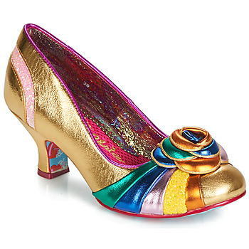 Shoes Women Heels Irregular Choice STUPENDA Gold