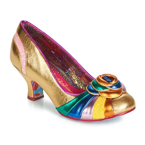 Shoes Women Heels Irregular Choice STUPENDA Gold