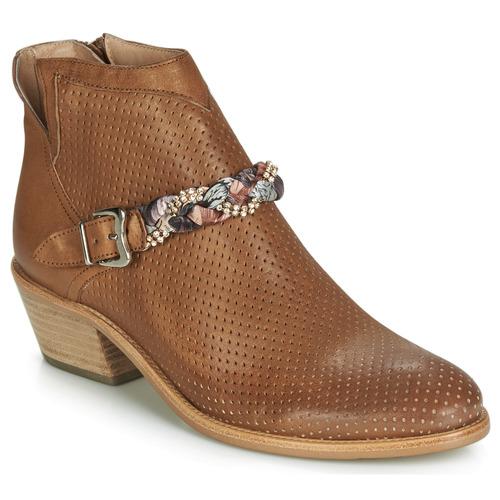 Shoes Women Mid boots Muratti DENISETTE Cognac