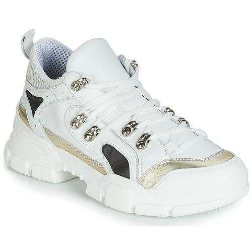 Shoes Women Low top trainers Sweet Lemon ELISA White