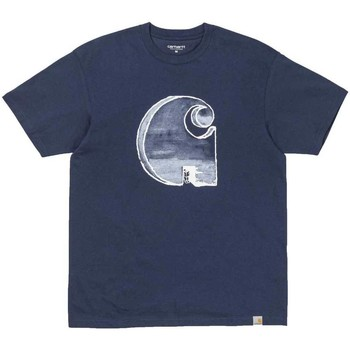 Clothing Men short-sleeved t-shirts Carhartt WIP S/S Way Through T-Shirt Navy