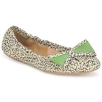 Shoes Women Flat shoes Maloles BLANCHE Black / White / Green