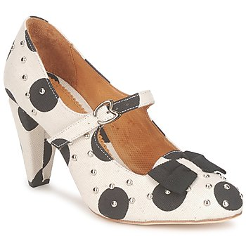 Shoes Women Heels Maloles CLARITA White / Black