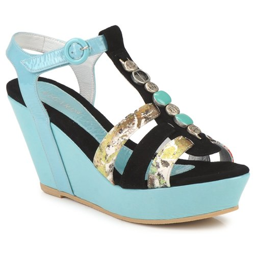 Shoes Women Sandals Regard RAFAVO Black / Blue