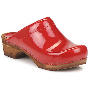 Shoes Women Clogs Sanita CLASSSIC PATENT Red
