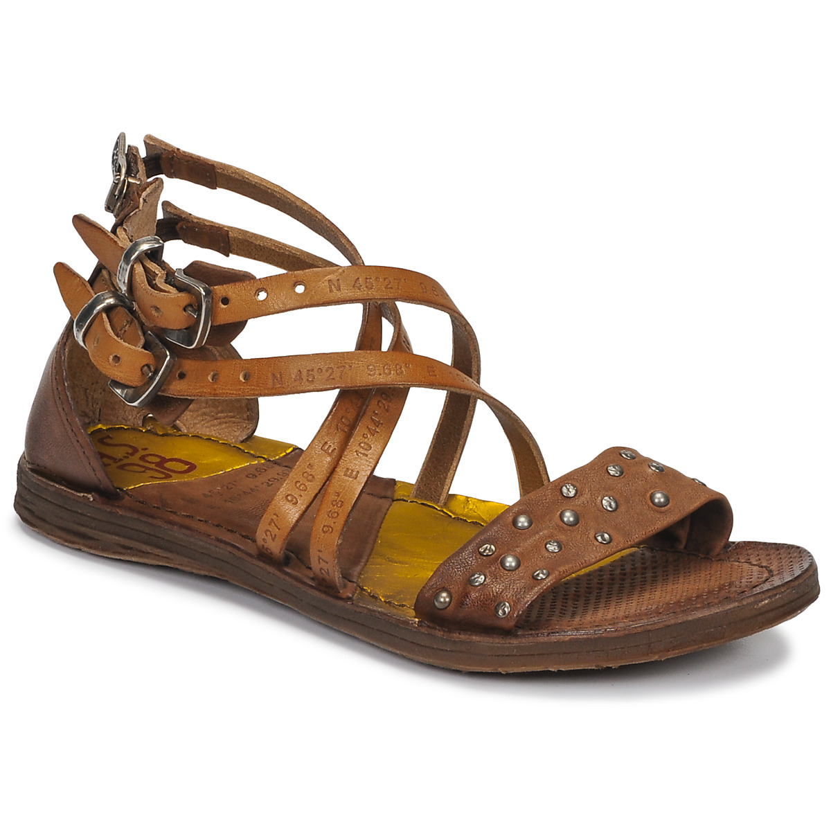 airstep / a.s.98  ramos clou  women's sandals in brown