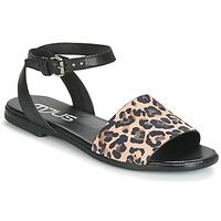 Shoes Women Sandals Mjus CHAT LEO Black / Leopard