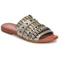 Shoes Women Mules Mjus CHAT MULE Kaki / Metal