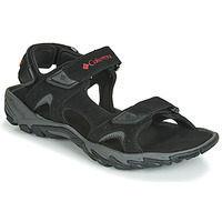 Shoes Men Outdoor sandals Columbia SANTIAM 3 STRAP Black