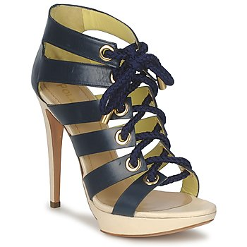 Shoes Women Sandals Pollini PA1609CC1V Blue-beige