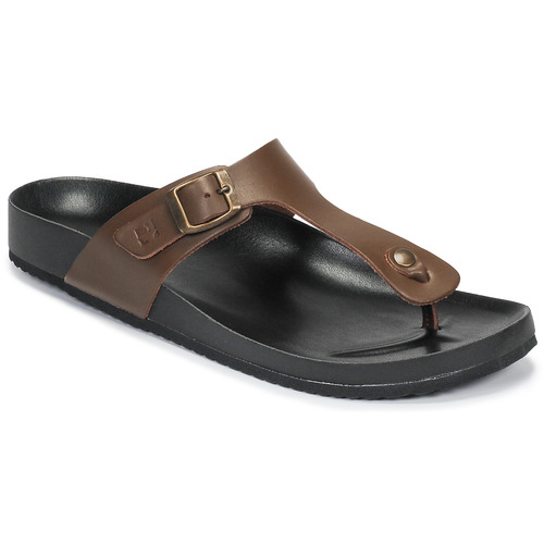 Shoes Men Flip flops Dream in Green JAKALEX Brown