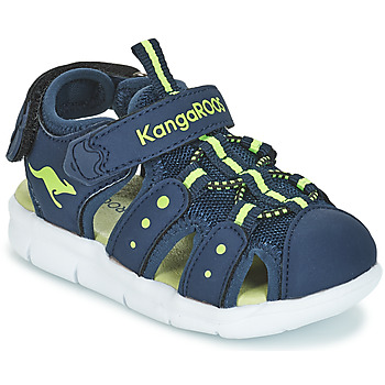 Shoes Children Sandals Kangaroos K-MINI Marine / Yellow