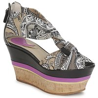 Shoes Women Sandals Etro 3467 Grey / Black / Purple