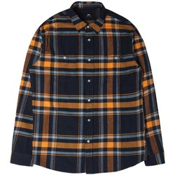 Clothing Men long-sleeved shirts Edwin Jeans Edwin Labour Flannel Shirt Orange