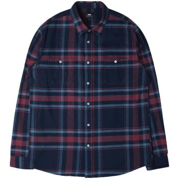 Clothing Men long-sleeved shirts Edwin Jeans Edwin Labour Flannel Shirt Purple
