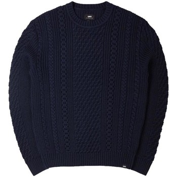 Clothing Men jumpers Edwin Jeans Edwin United Cable Knit Jumper Navy