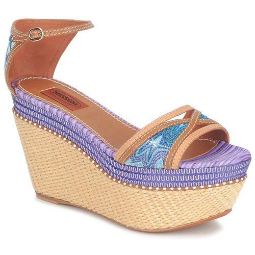 Shoes Women Sandals Missoni TM26 Blue / Brown