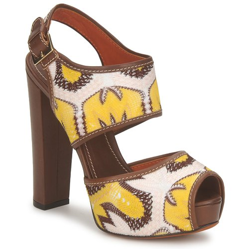 Shoes Women Sandals Missoni TM81 Brown / Beige / Yellow