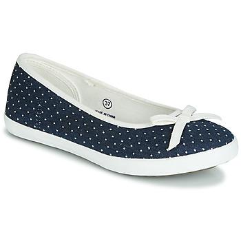 Shoes Women Flat shoes André ALBA Marine / White