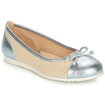 Shoes Girl Flat shoes André RIVAGE Blue / Beige