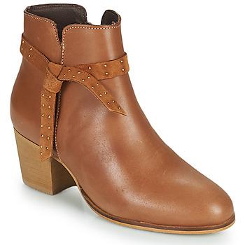 Shoes Women Ankle boots André ROMANE Cognac