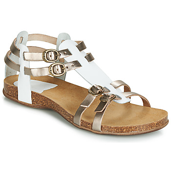 Shoes Women Sandals Kickers ANA White / Bronze