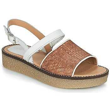 Shoes Women Sandals Kickers VICTORIETTE Brown / White