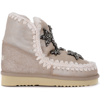 Shoes Children Snow boots Mou Eskimo 18 Crystal Stars stone metal sheepskin ankle Grey