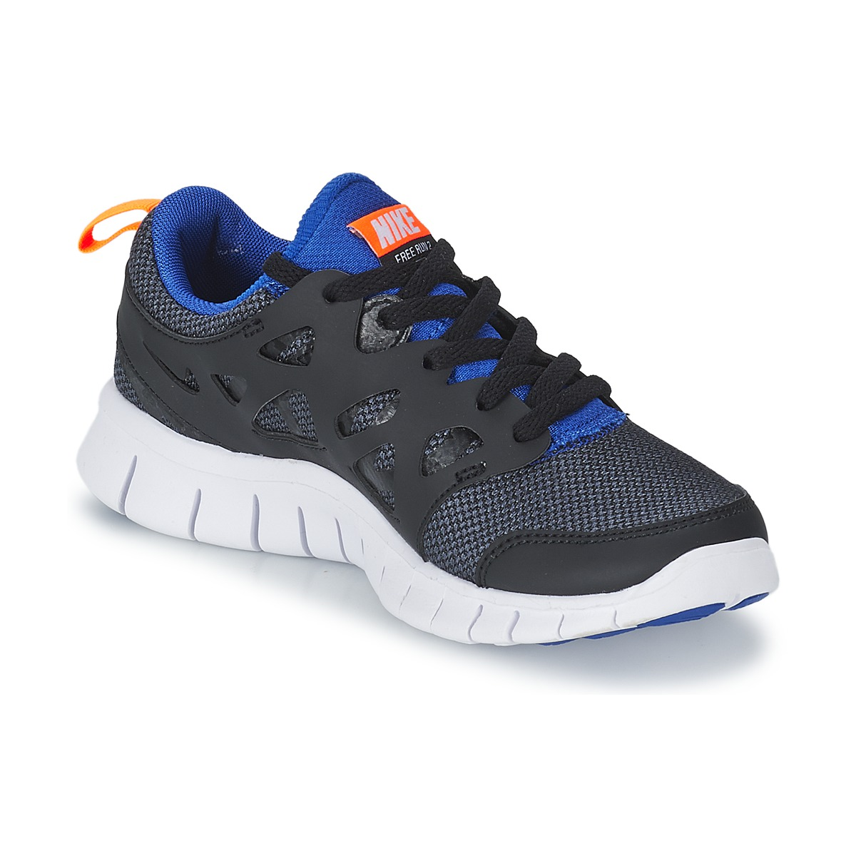 nike free run 2 junior black blue free delivery with spartoo uk shoes low top trainers. Black Bedroom Furniture Sets. Home Design Ideas