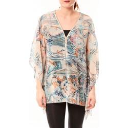 Clothing Women Shirts De Fil En Aiguille Tunique Love Look 1218 Bleu Blue