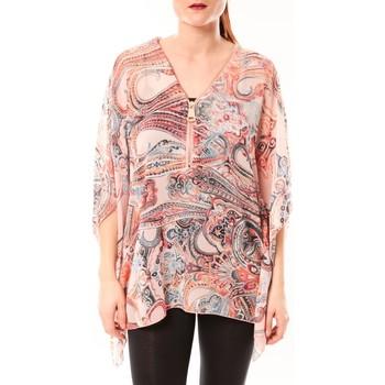 Clothing Women Shirts De Fil En Aiguille TuniqueLove Look 1218 Rose Pink