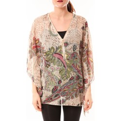 Clothing Women Shirts De Fil En Aiguille Tunique Love Look 1217 Beige Beige