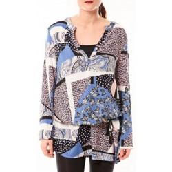 Clothing Women Short Dresses De Fil En Aiguille Tunique Love Look 1102 Bleu Blue